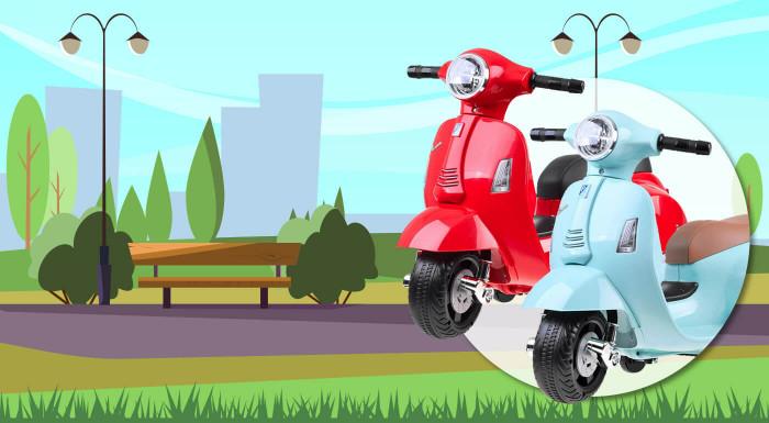 Detská elektrická motorka Vespa
