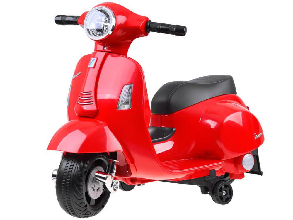 Elektrická motorka Vespa pre deti červená