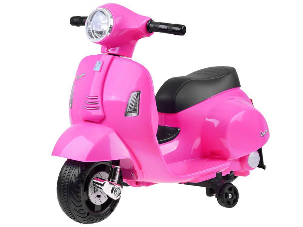 Elektrická motorka Vespa pre deti ružová