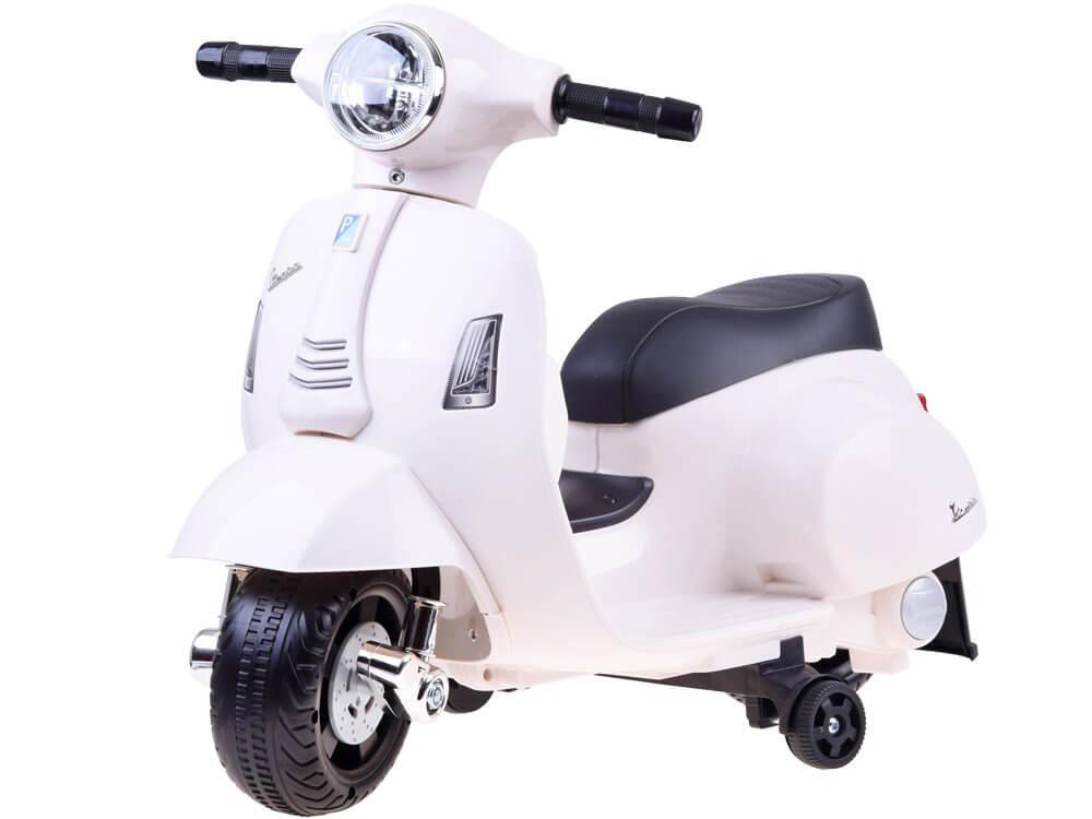 Elektrická motorka Vespa pre deti biela