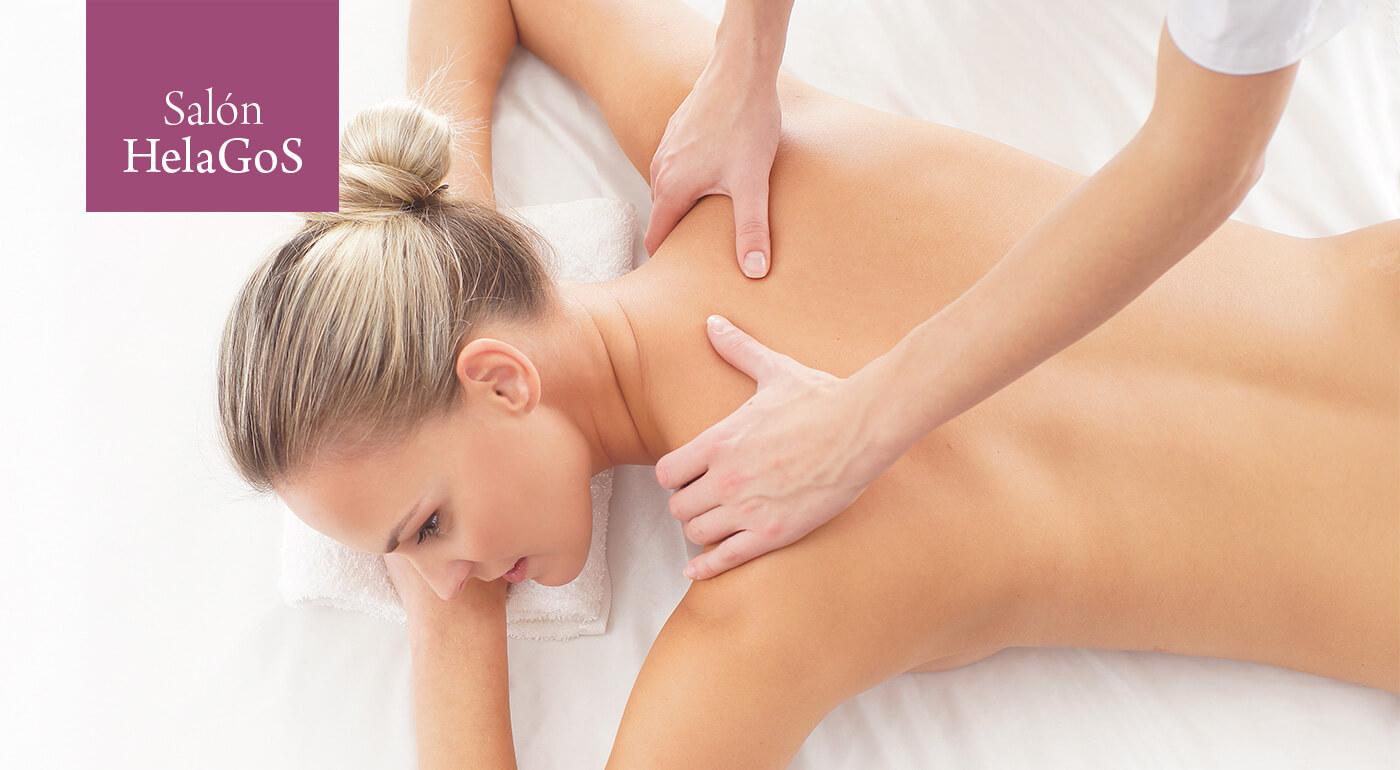 Relaxačno-liečebná športová masáž chrbta v Salóne HelaGoS v Starom meste
