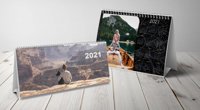 Stolové kalendáre s vlastnými fotografiami