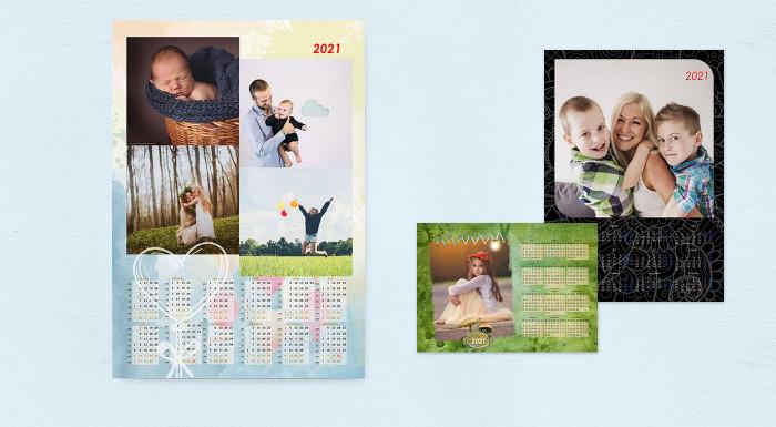 Nástenné kalendáre s vlastnými fotografiami