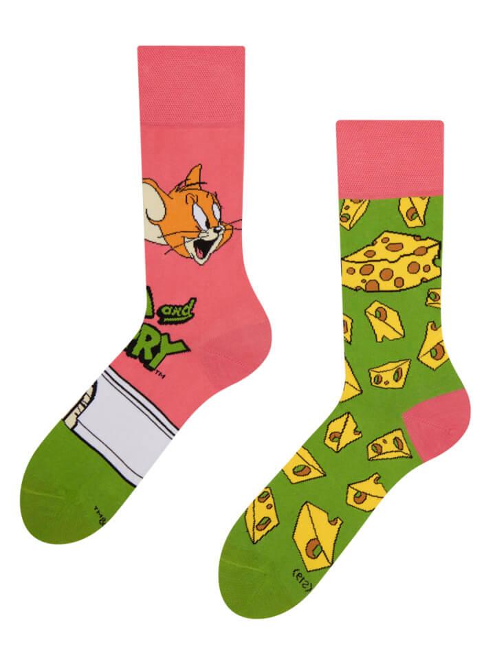 Veselé ponožky Tom a Jerry ™ Syr - veľkosť 43-46