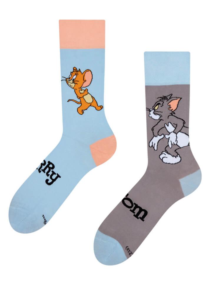 Veselé ponožky Tom a Jerry ™ Pasca - veľkosť 43-46