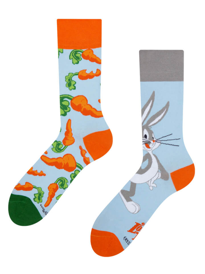Good Mood ponožky Bugs Bunny ™ Mrkva - veľkosť 35-38
