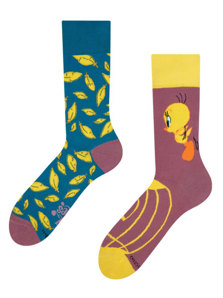 Good Mood ponožky Tweety ™ - Pierka - veľkosť 35-38