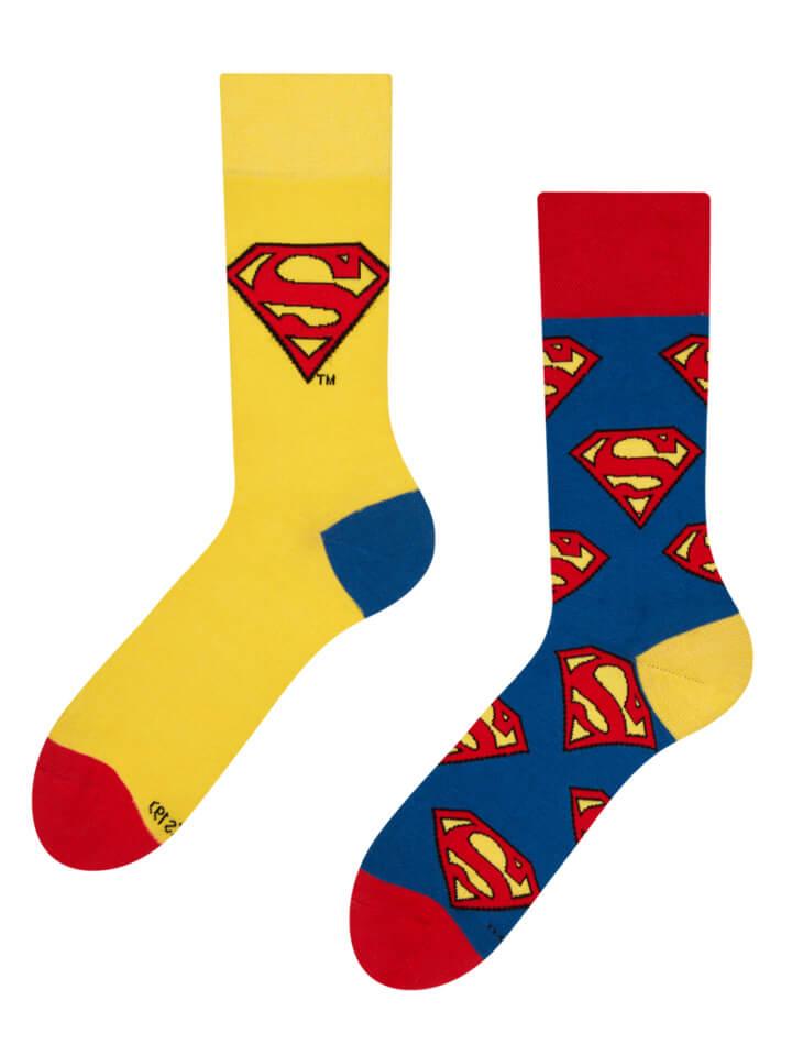 Good Mood ponožky Superman ™ Logo - veľkosť 39-42