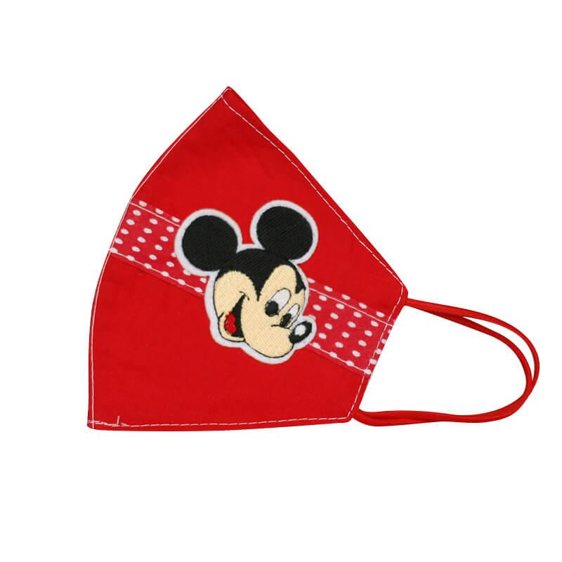 Detské bavlnené rúško - Mickey Mouse červené (20x13 cm)
