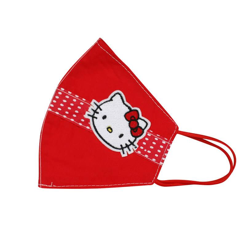 Detské bavlnené rúško - Hello Kitty červené (20x13 cm)