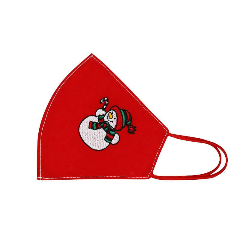 Bavlnené rúško Snehuliak dámske - červené