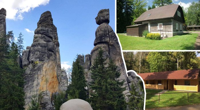 Rodinný pobyt v Chatkách Zděřina pri Adršpachu