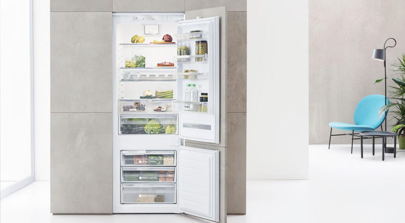 Vstavaná chladnička Whirlpool s množstvom inovatívnych funkcií