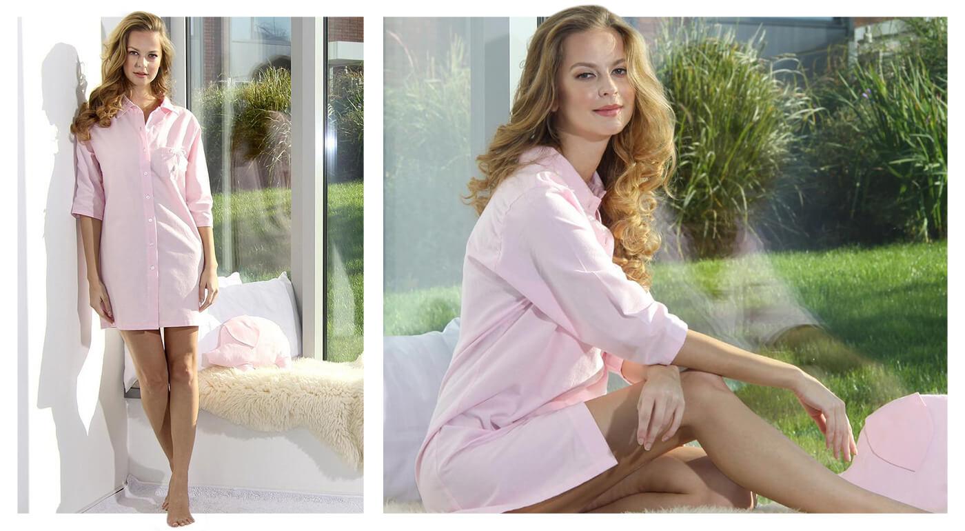 Kvalitná dámska nočná košeľa z organickej bavlny - flanelu pre 100% sladký spánok