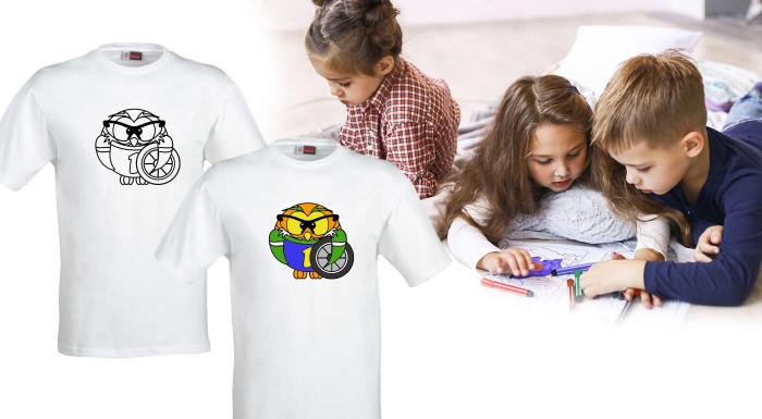 Tričká Omaľovánky pre deti