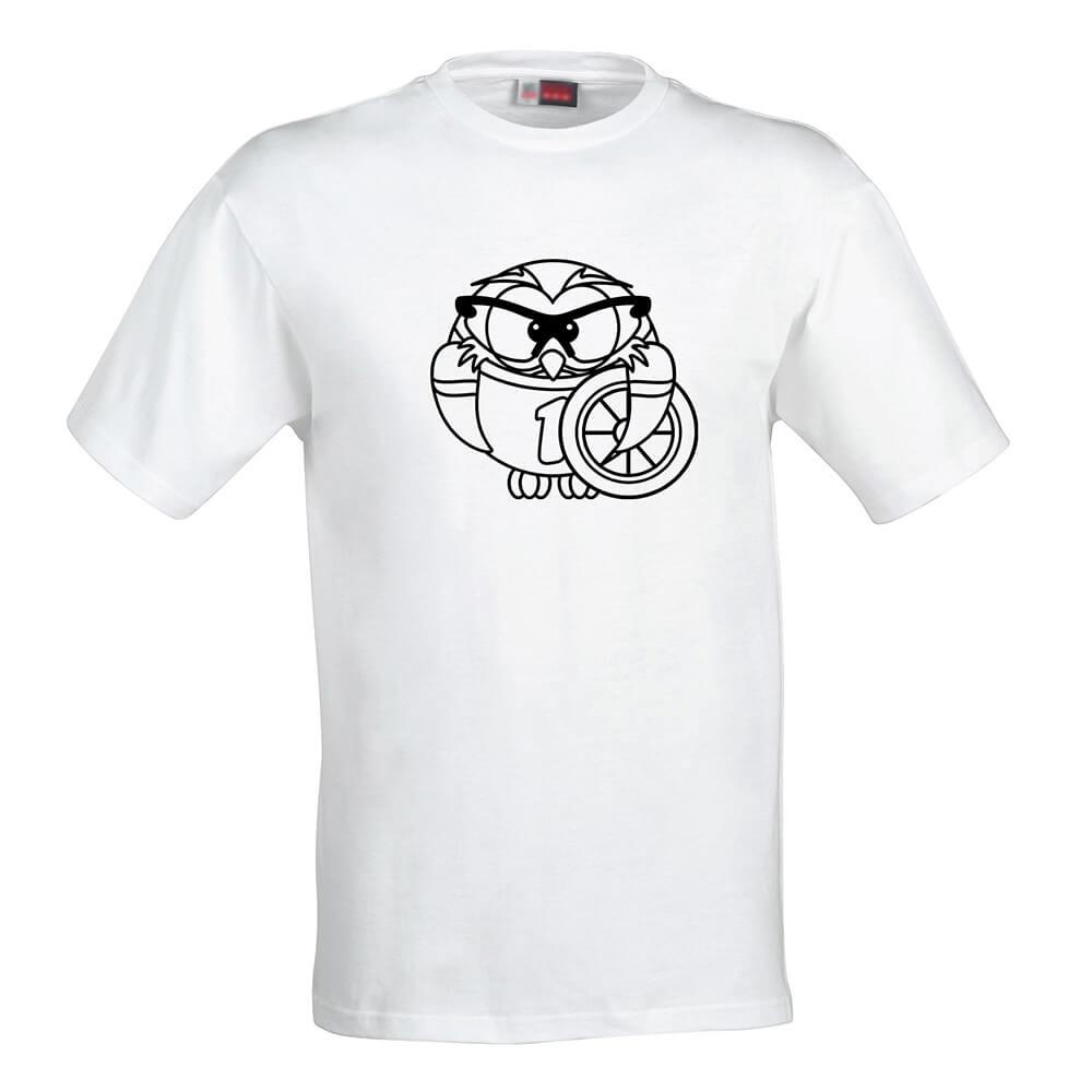 Detské tričko Omaľovánka - Mrzutá sova, veľkosť 110 (4 roky)