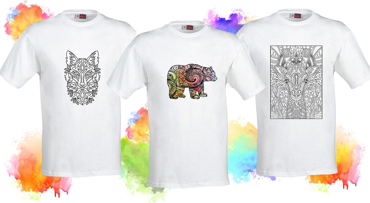 Tričká Omaľovánky - originálne dámske a pánske tričká, ktoré si vyfarbíte podľa vlastnej fantázie!