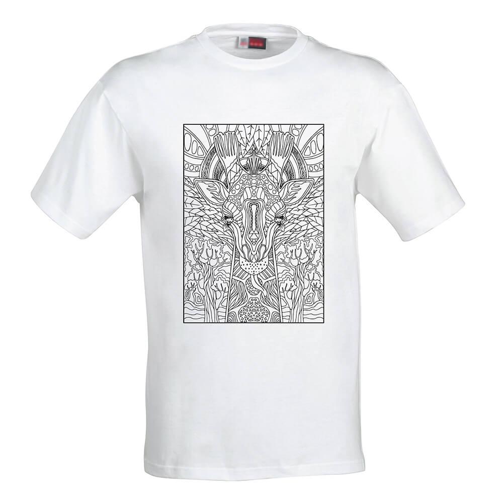 Pánske tričko Omaľovánka - Africká žirafa, veľkosť S