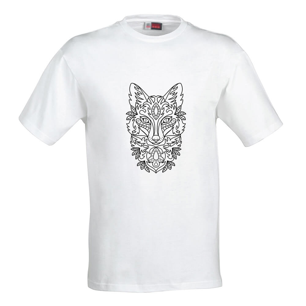 Pánske tričko Omaľovánka - Líška, veľkosť XL