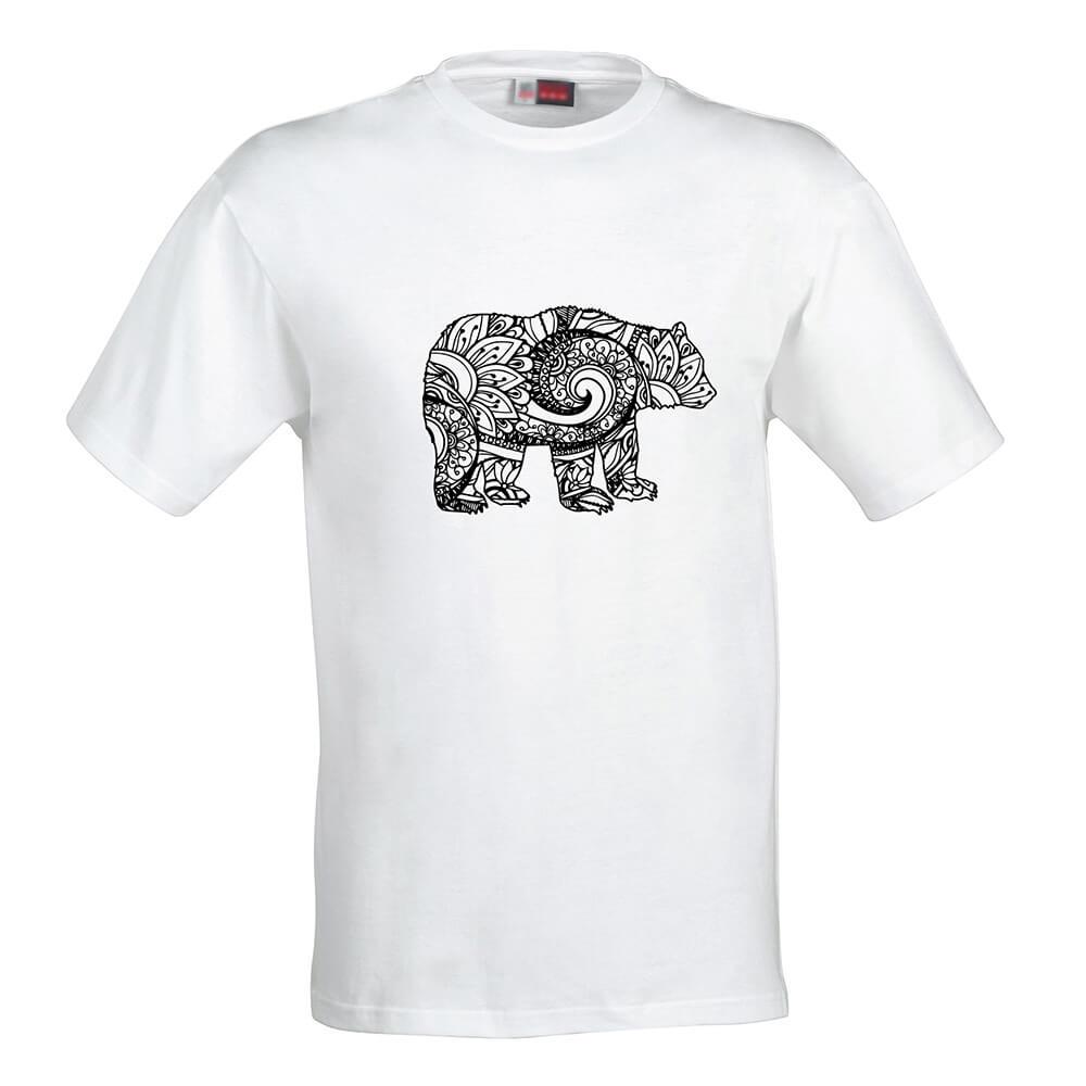 Pánske tričko Omaľovánka - Medveď, veľkosť S