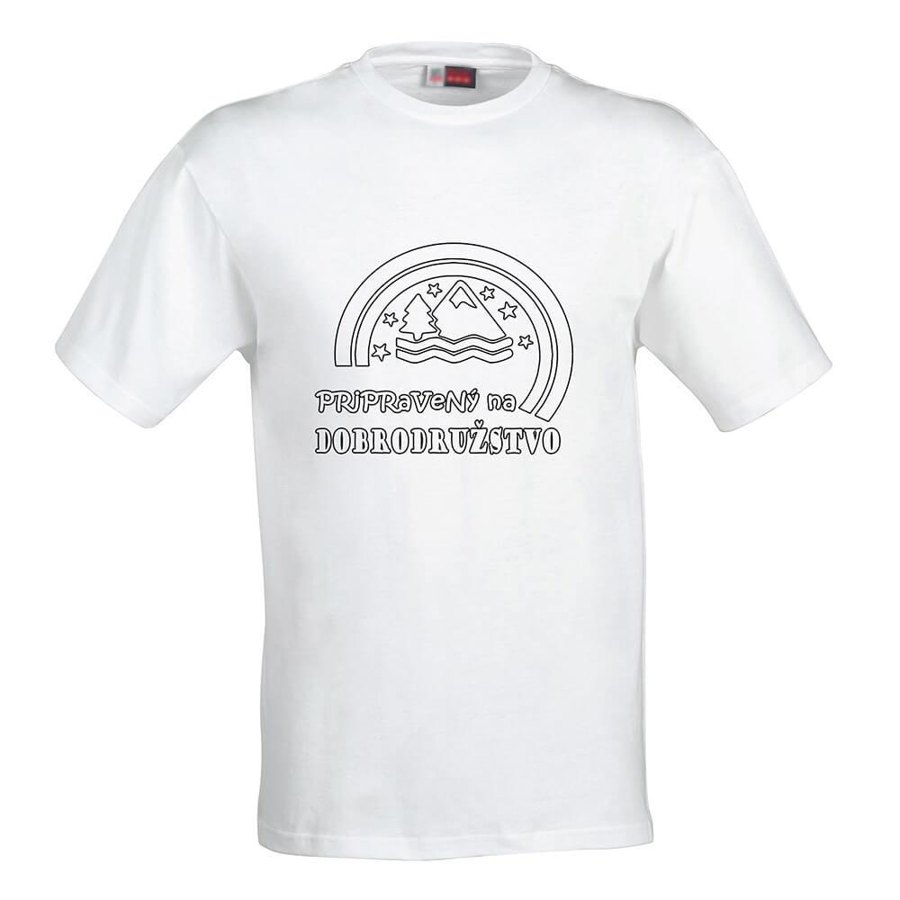 Pánske tričko Omaľovánka - Pripravený na dobrodružstvo, veľkosť S