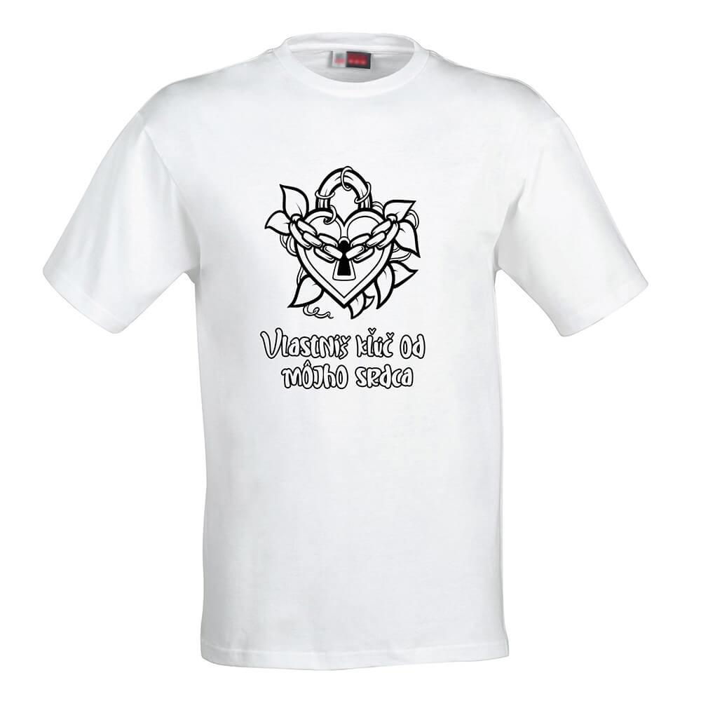 Dámske tričko Omaľovánka - Kľúč od môjho srdca, veľkosť S