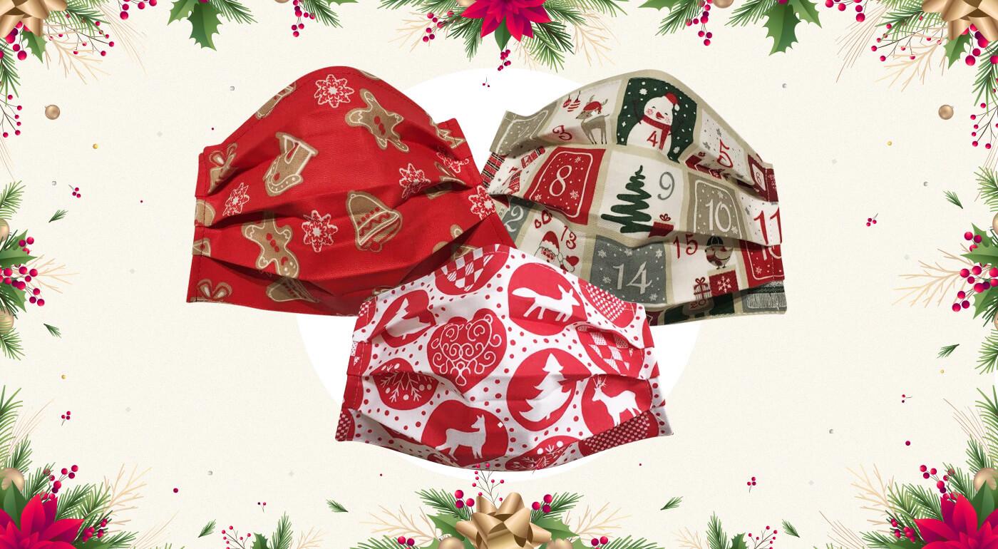 Originálne vianočné bavlnené rúška vyrobené na Slovensku - nové motívy