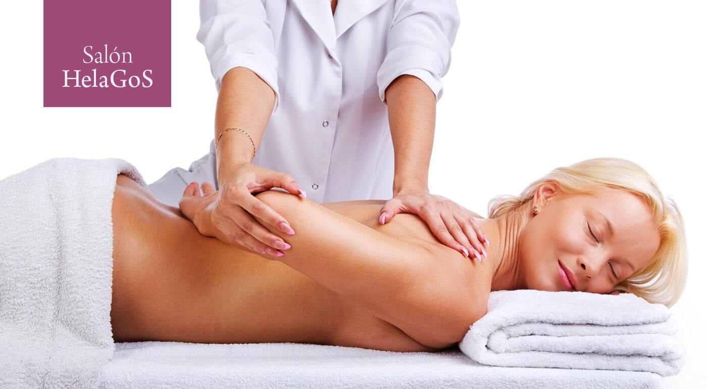 Relaxačno-uvoľňujúca masáž chrbta v salóne HelaGoS v Starom meste