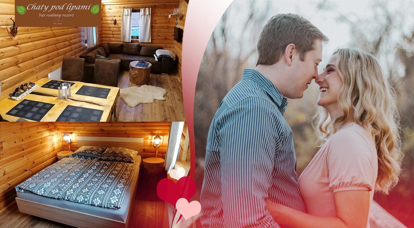 Valentínsky pobyt v útulnej dreveničke pre dve až štyri osoby v Liptovskom Trnovci
