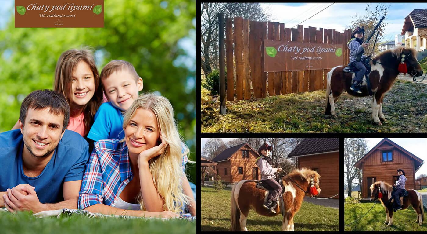 Rodinný pobyt v útulných dreveničkách v Liptovskom Trnovci pre rodiny alebo dvojice.