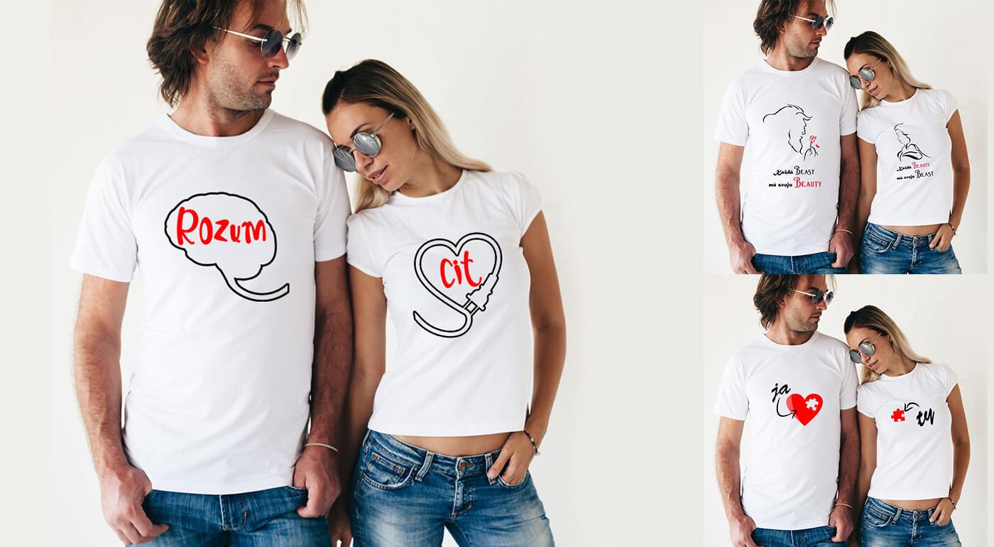 Originálna sada tričiek nielen pre zamilovaných, ktoré vás pobavia!