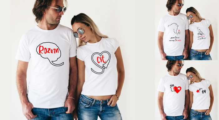 Pánske a dámske tričká pre zaľúbených