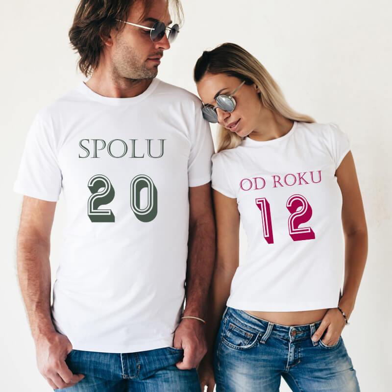 Dámske a pánske tričko - Spolu od roku..., veľkosť S,M,L,XL,XXL
