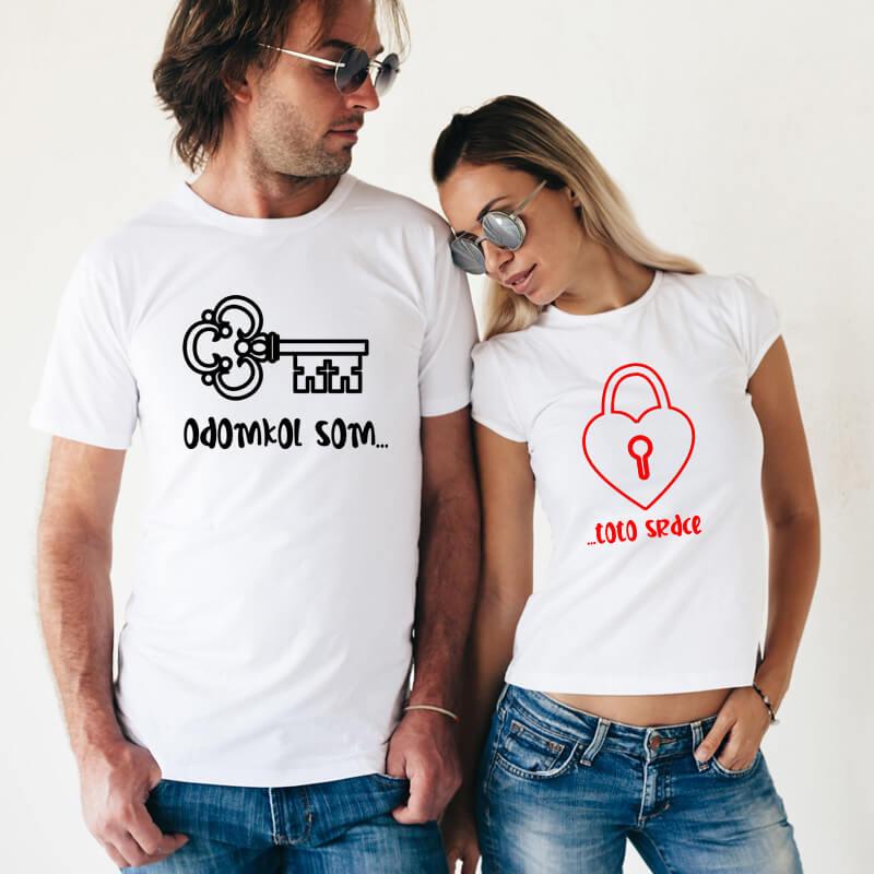 Dámske a pánske tričko - Odomkol som toto srdce, veľkosť S,M,L,XL,XXL