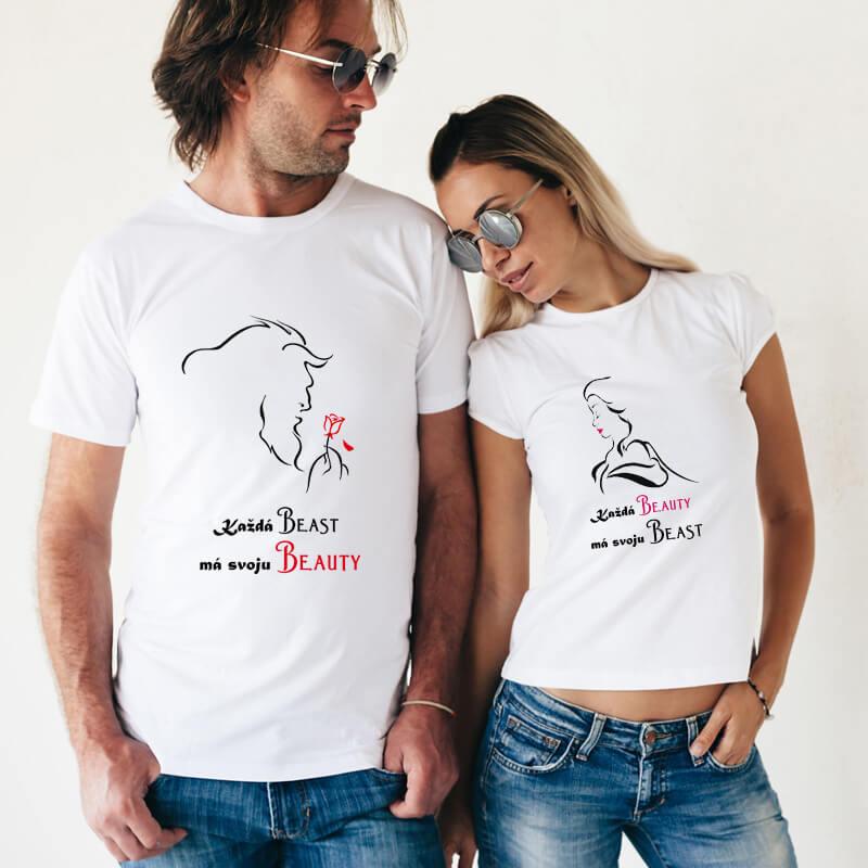 Dámske a pánske tričko - Kráska a zviera, veľkosť S,M,L,XL,XXL