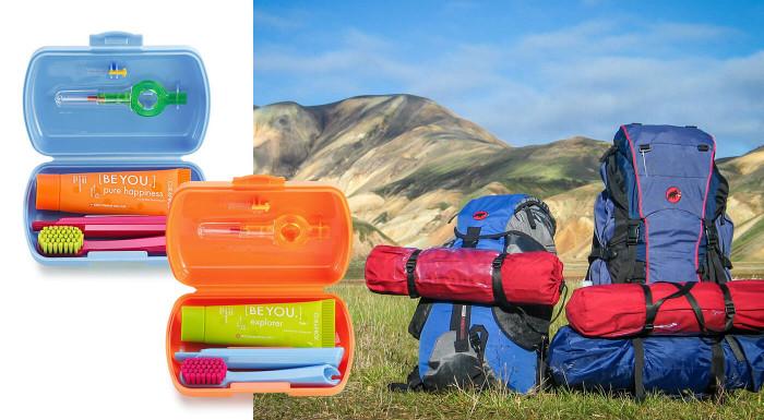 Cestovný set Curaprox - rôzne farby
