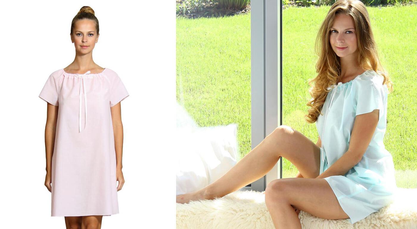 Luxusná dámska nočná košeľa z organickej bavlny, ktorá zaručí vašej nežnej polovičke absolútne pohodlie.