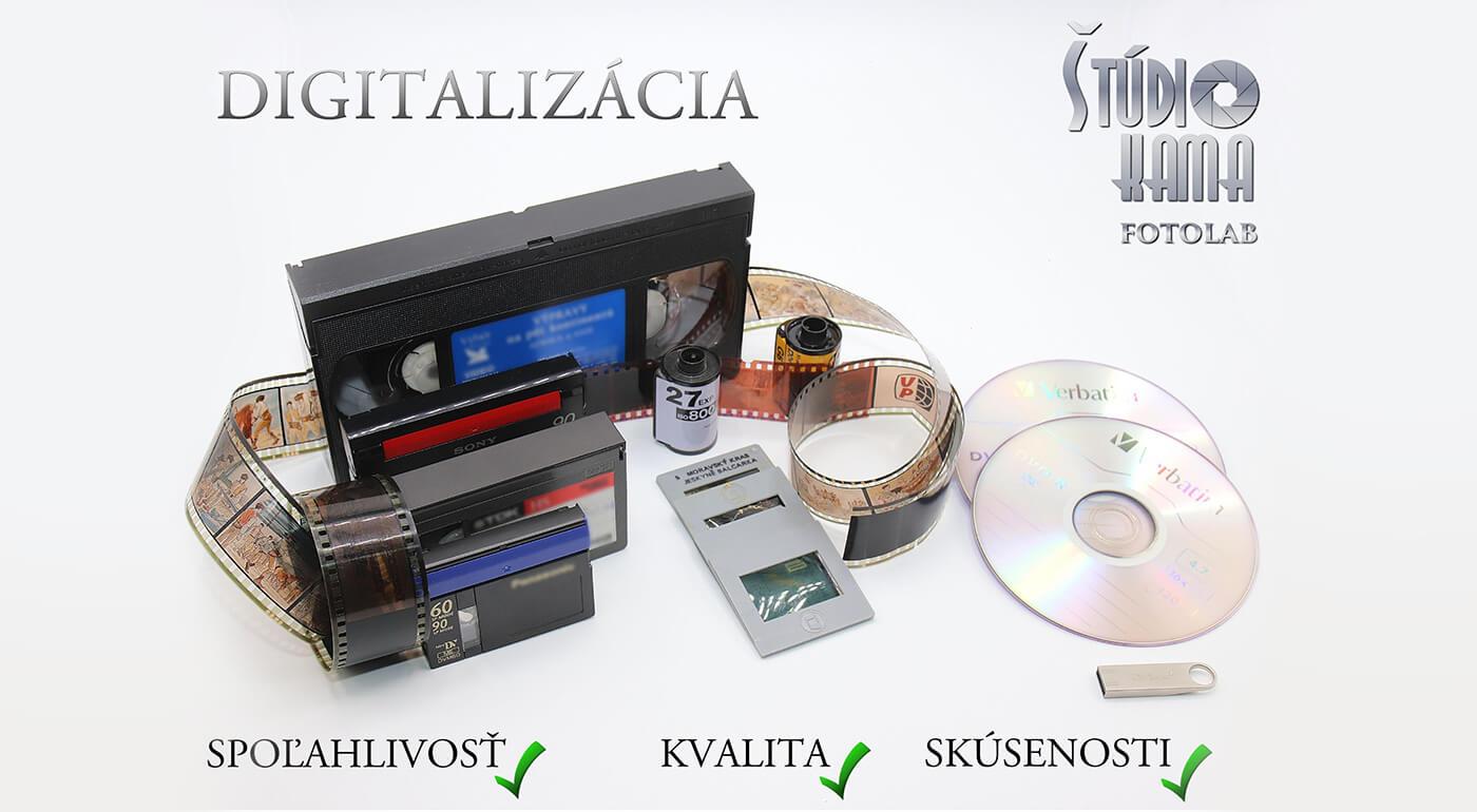 Profesionálny prepis kaziet na DVD, USB alebo digitalizácia fotografií