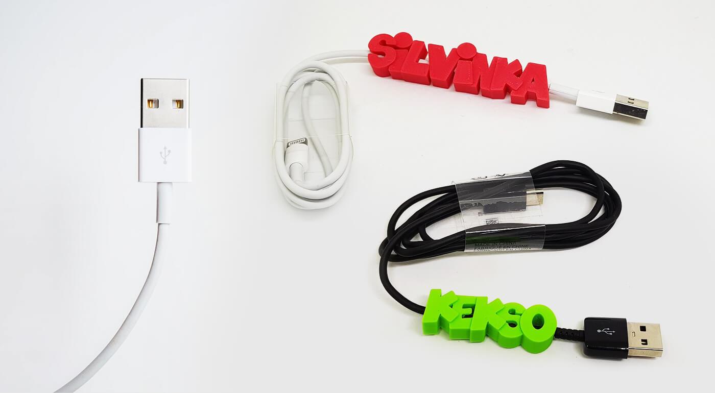 Nabíjací kábel Micro USB, Typ C alebo Lightning s menom či vlastným logom