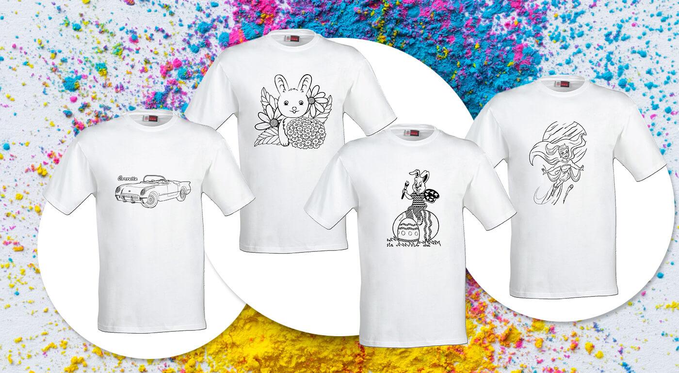 Detské tričká Omaľovánky - vyfarbite si ich podľa vlastnej fantázie!