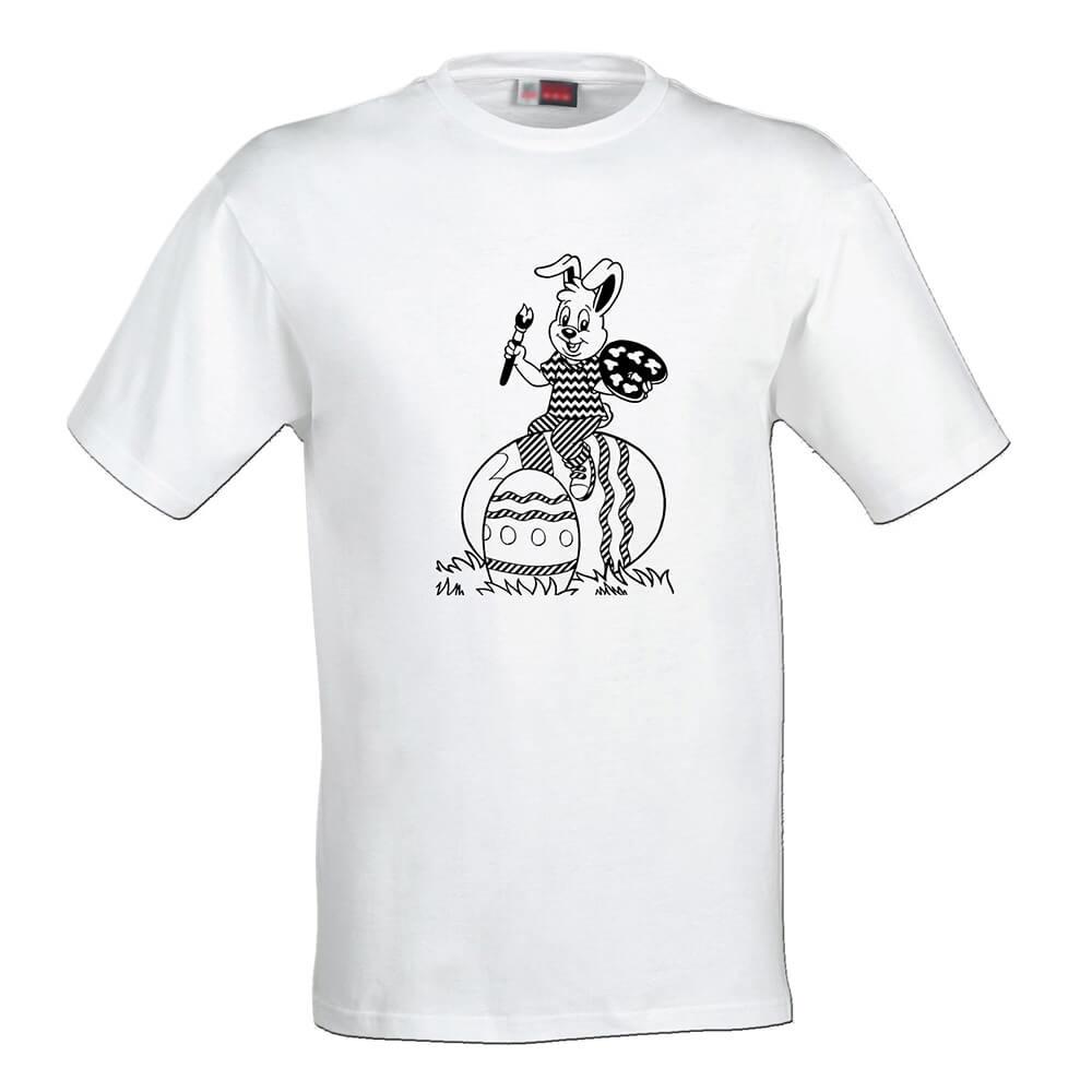 Detské tričko Omaľovánka - Zajačik a kraslice, veľkosť 110 (4 roky)