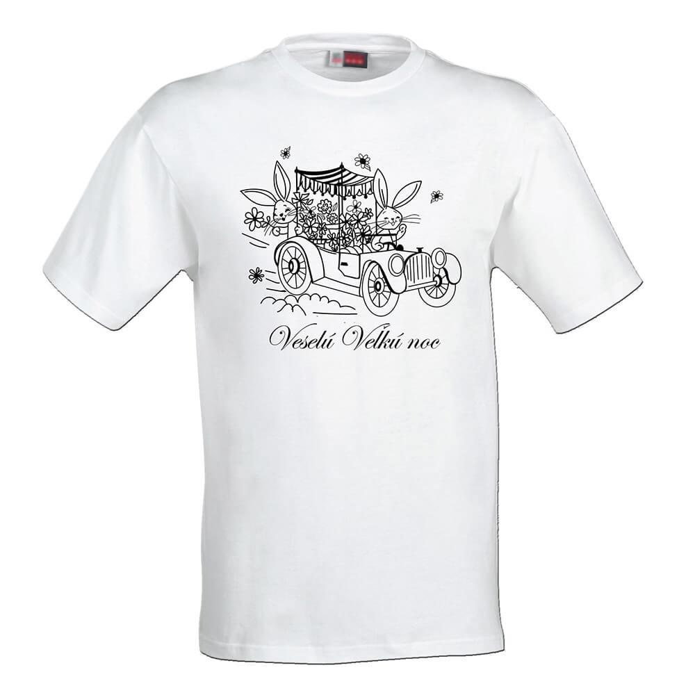 Detské tričko Omaľovánka - Veselú Veľkú noc, veľkosť 110 (4 roky)