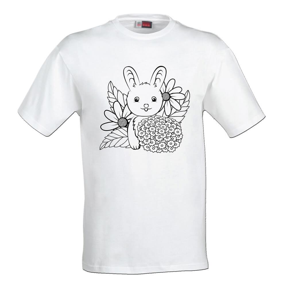 Detské tričko Omaľovánka - Zajačik, veľkosť 158 (12 rokov)