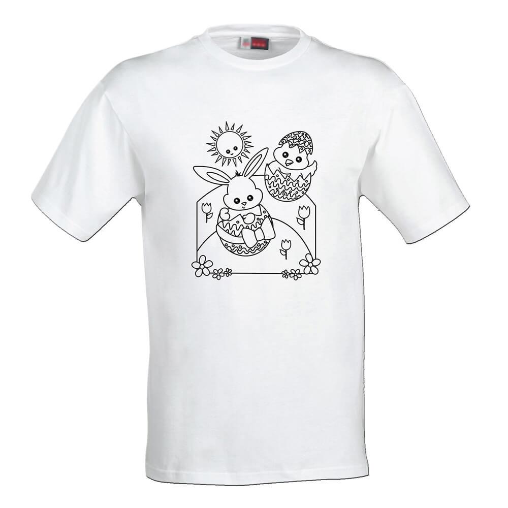 Detské tričko Omaľovánka - Veľká noc, veľkosť 110 (4 roky)