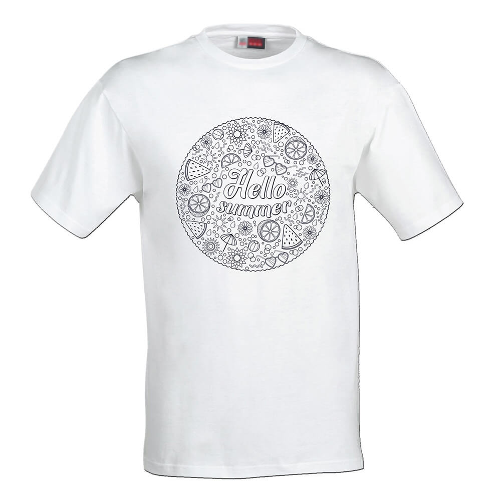 Dámske tričko Omaľovánka - Summer, veľkosť L