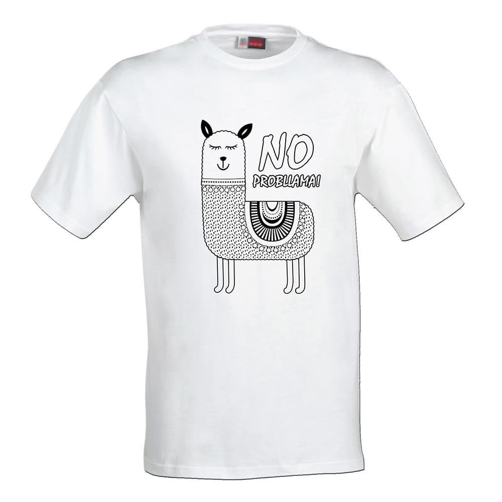 Pánske tričko Omaľovánka - Lama, veľkosť S