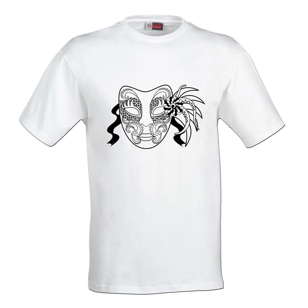 Dámske tričko Omaľovánka - Maska, veľkosť S