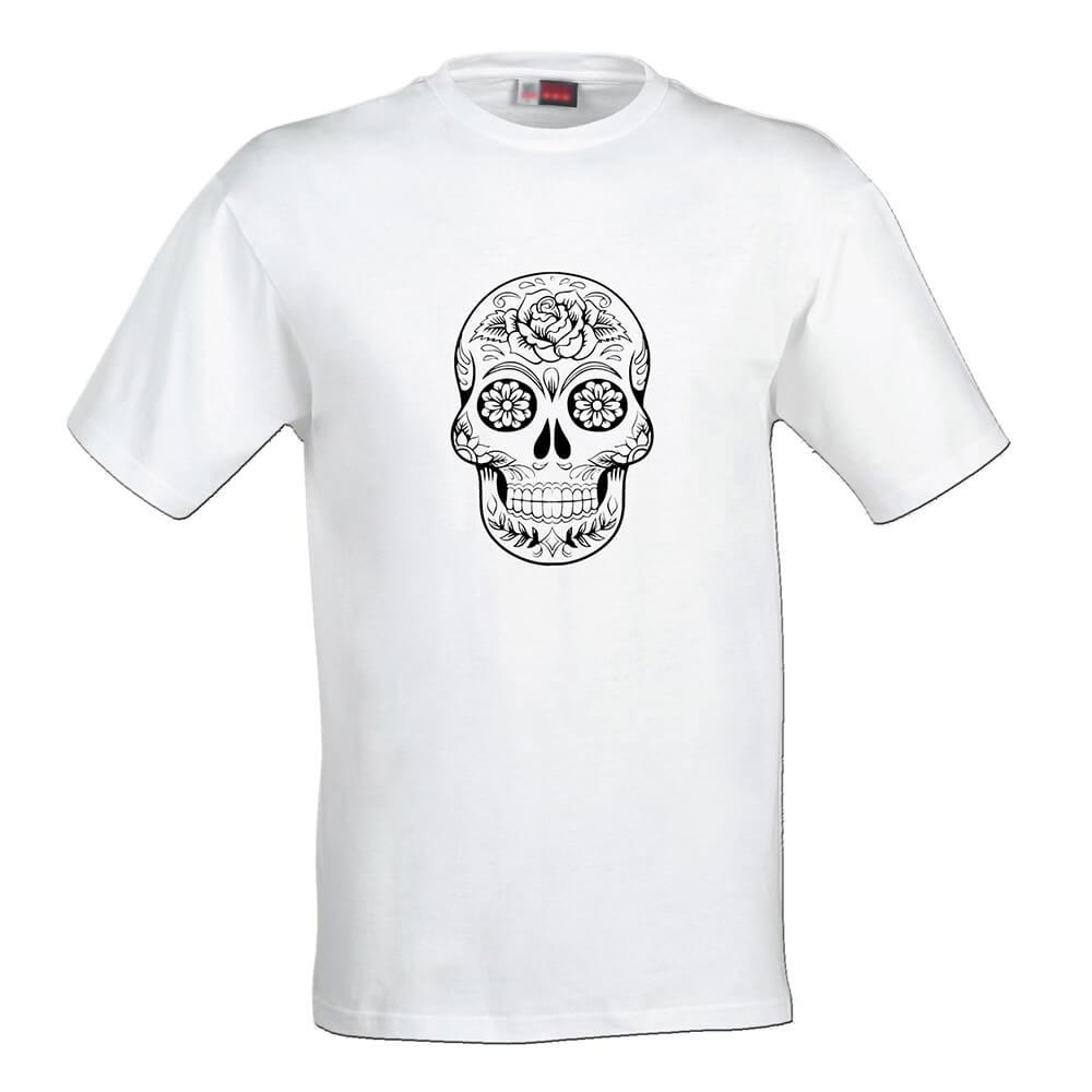 Pánske tričko Omaľovánka - Lebka veľkosť S