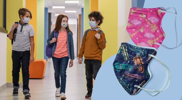 Detské farebné respirátory FFP2