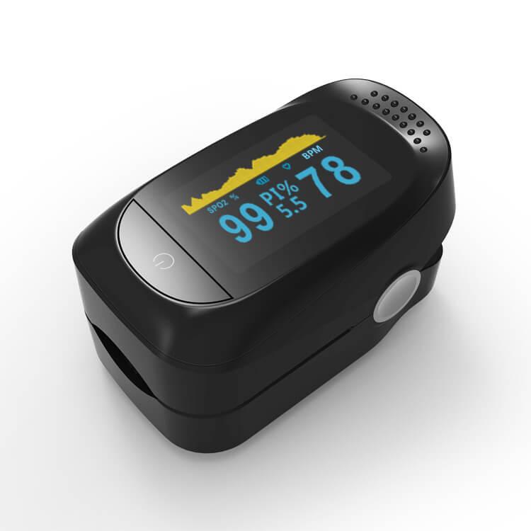 Pulzný oximeter C101A2 na meranie hladiny kyslíka v organizme - čierny